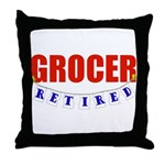 Retired Grocer Throw Pillow