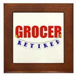 Retired Grocer Framed Tile