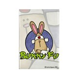 Bunny Fu Rectangle Magnet