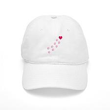 Pink Paw Prints To My Heart Baseball Cap