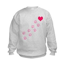 Pink Paw Prints To My Heart Sweatshirt