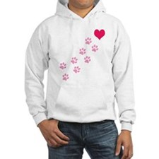 Pink Paw Prints To My Heart Hoodie
