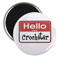 "Crocheter Nametag 2.25"" Magnet (100 pack)"