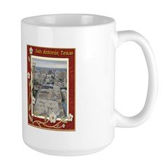 San Antonio Skyline #1 Large Mug