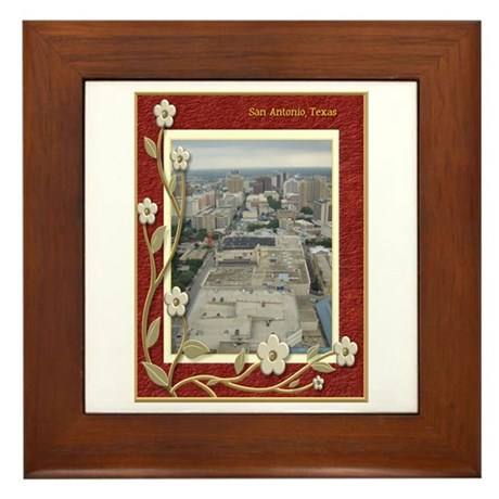San Antonio Skyline #1 Framed Tile