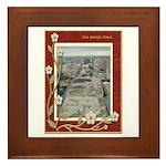 San Antonio Skyline #1 Framed Tile