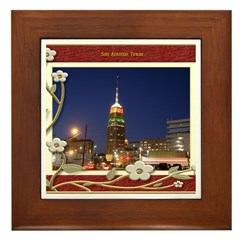 San Antonio Skyline #2 Framed Tile