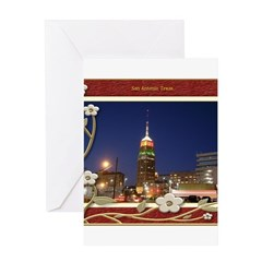 San Antonio Skyline #2 Greeting Card