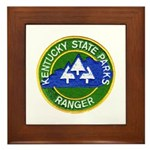 Kentucky Park Ranger Framed Tile