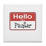 Painter Nametag Tile Coaster
