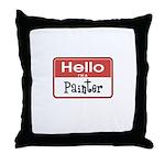 Painter Nametag Throw Pillow