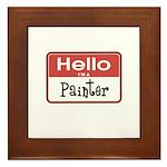 Painter Nametag Framed Tile