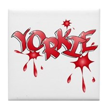 Yorkie Graffiti Tile Coaster