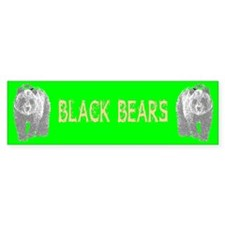 Black Bears Bumper Bumper Sticker