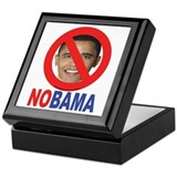 NO OBAMA Keepsake Box