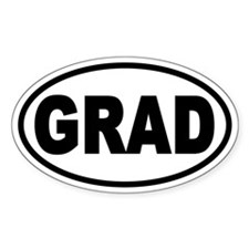 GRAD Euro Style Oval Decal
