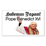 Habemus Papam! Rectangle Bumper Stickers