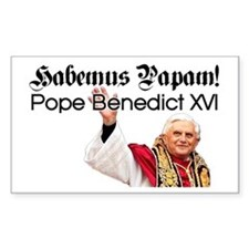 Habemus Papam! Rectangle Decal