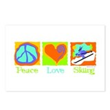 Peace Love Skiing Postcards (Package of 8)