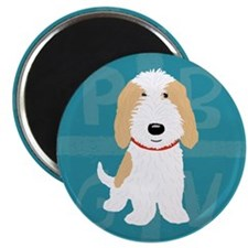 "Tan & White PBGV 2.25"" Magnet (100 pack)"