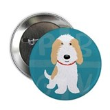 "Tan & White PBGV 2.25"" Button (100 pack)"