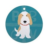 Tan &amp; White PBGV Ornament
