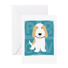 Tan & White PBGV Greeting Card