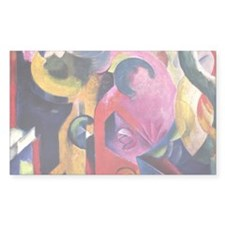 Composition by Franz Marc Rectangle Decal