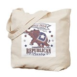 Retro Republican Elephant Tote Bag
