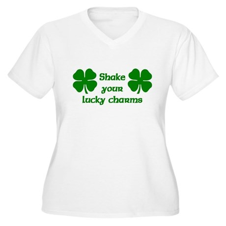 Shake your Lucky Charms Women's Plus Size V-Neck T