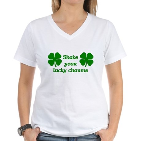 Shake your Lucky Charms Women's V-Neck T-Shirt