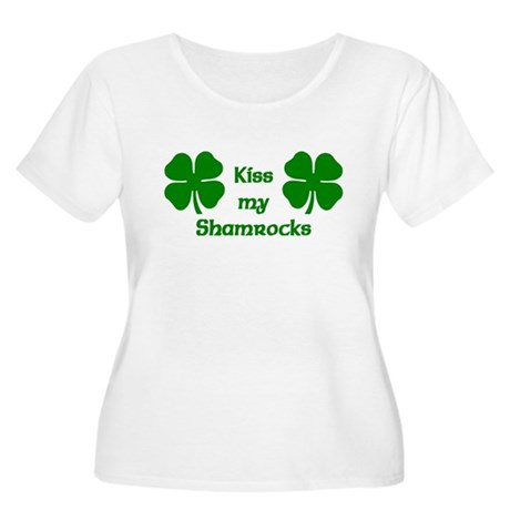 Kiss my Shamrocks Women's Plus Size Scoop Neck T-S