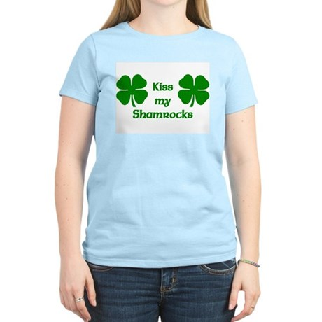 Kiss my Shamrocks Women's Light T-Shirt