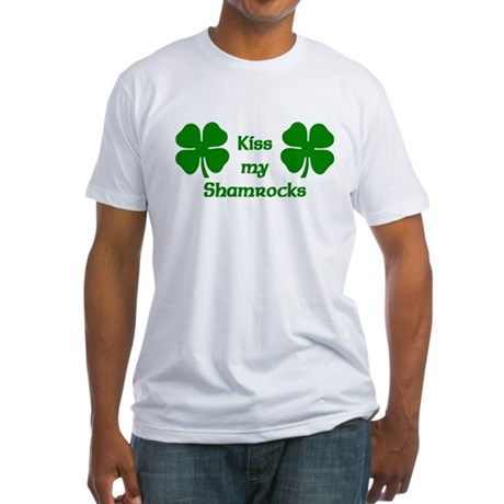 Kiss my Shamrocks Fitted T-Shirt