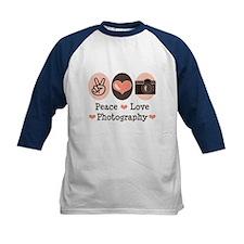 Peace Love Photography Camera Tee