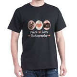 Peace Love Photography Camera T-Shirt