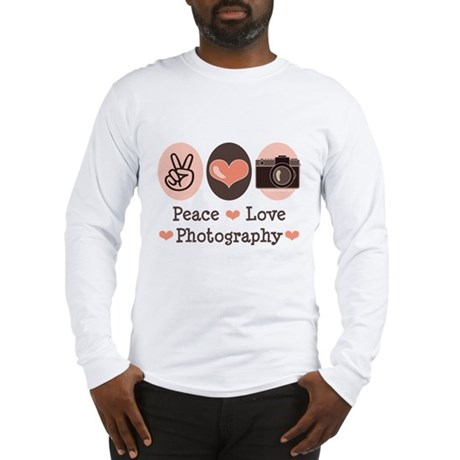 Peace Love Photography Camera Long Sleeve T-Shirt
