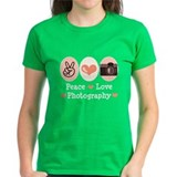 Peace Love Photography Camera Tee