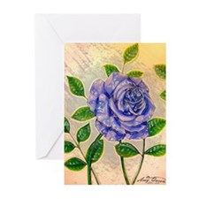 Blue Rose Greeting Cards (Pk of 10)