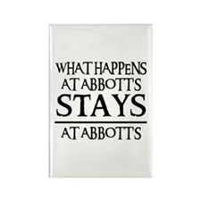 STAYS AT ABBOTT'S Rectangle Magnet