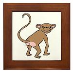 Cheeky Monkey Framed Tile