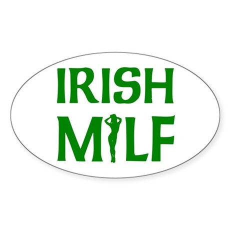 Irish MILF Oval Sticker