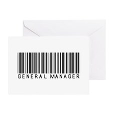 General Manager Barcode Greeting Card