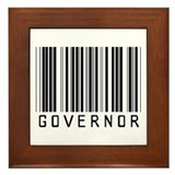 Governor Barcode Framed Tile