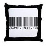 Graphic Designer Barcode Throw Pillow