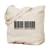 Graphic Designer Barcode Tote Bag