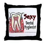 Sexy Dental Hygienist 2005 Throw Pillow