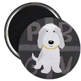 "Grey & White PBGV 2.25"" Magnet (100 pack)"
