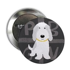 "Grey & White PBGV 2.25"" Button (10 pack)"