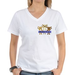 Chihuahuas For Peace Women's V-Neck T-Shirt